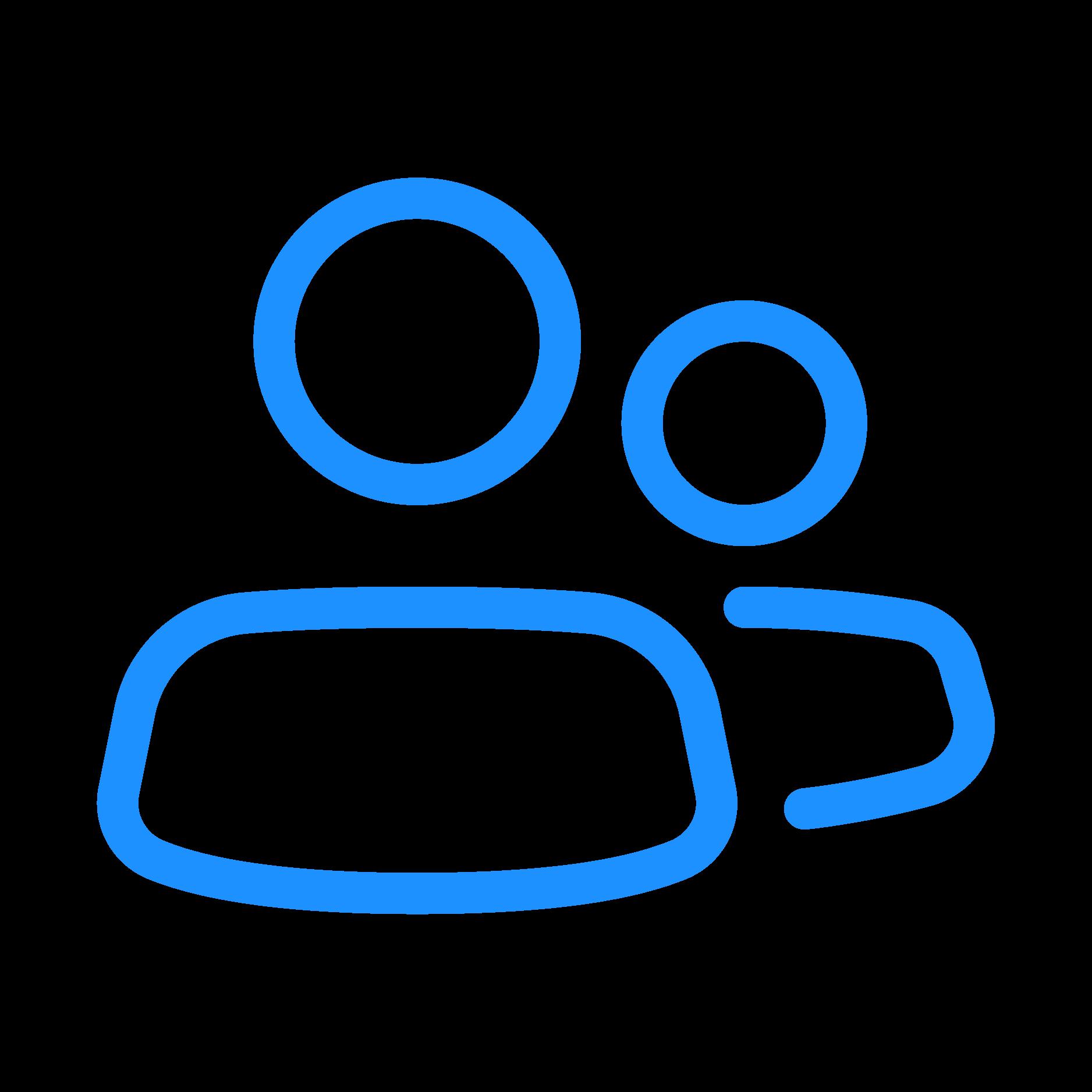 Blaue Personen